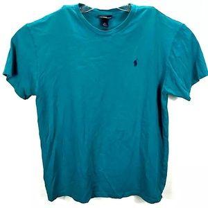 Polo Ralph Lauren T-shirt Blue 100% Cotton k17